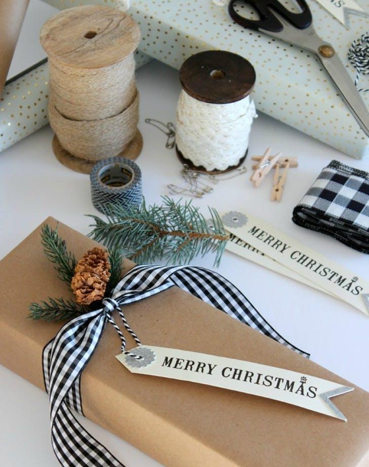 gift wrap printedribbon