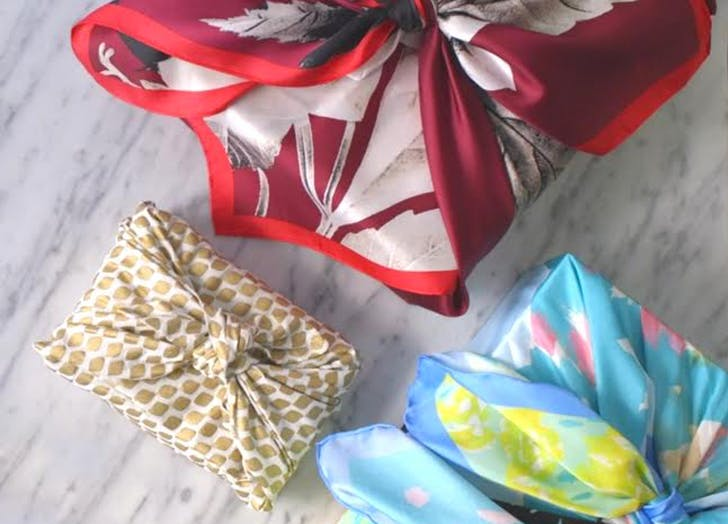 gift wrap scarves