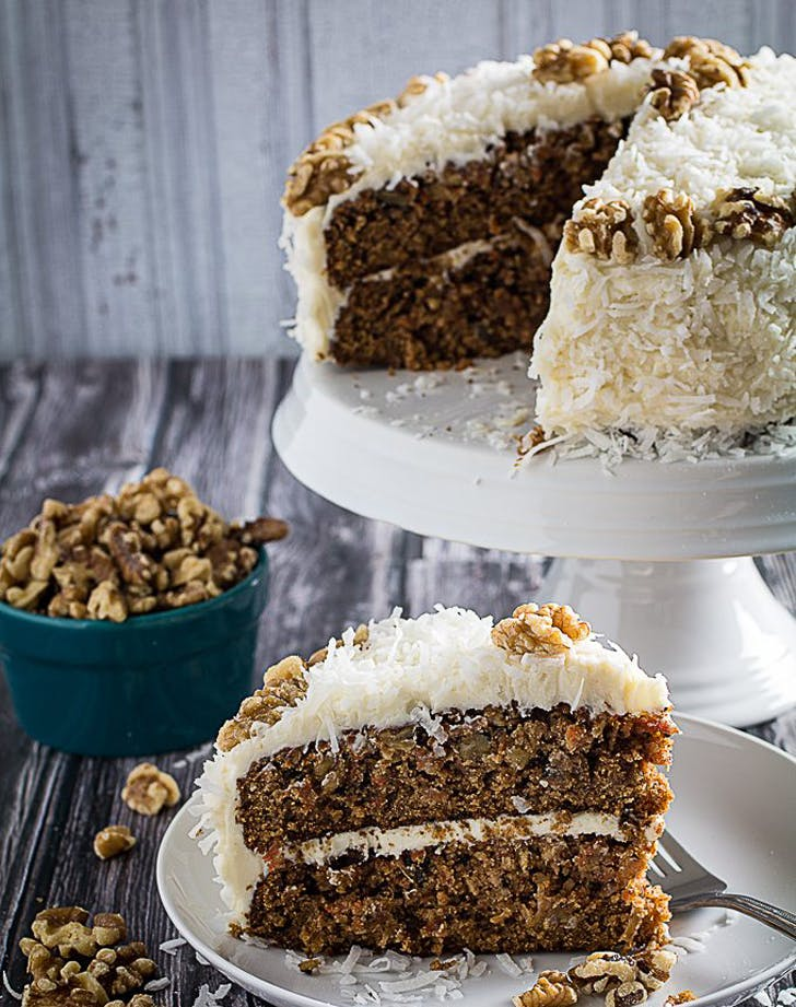 gluten free holiday desserts carrot cake