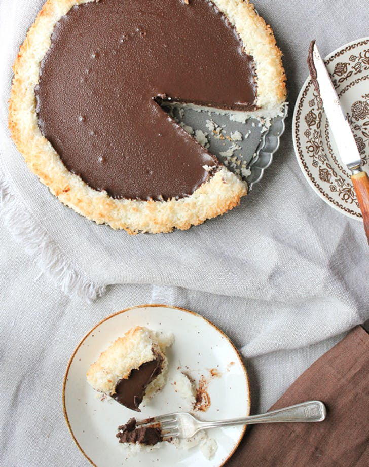 gluten free holiday desserts chocolate coconut pie