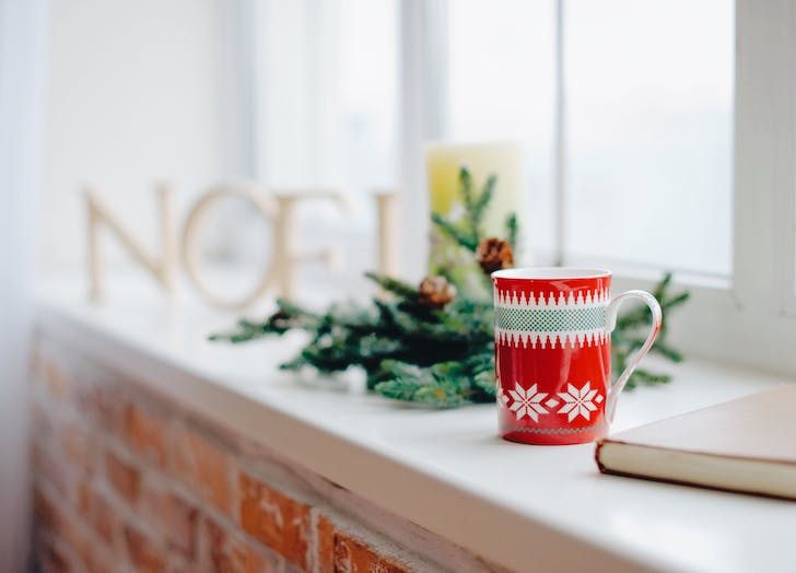 holiday decor mug