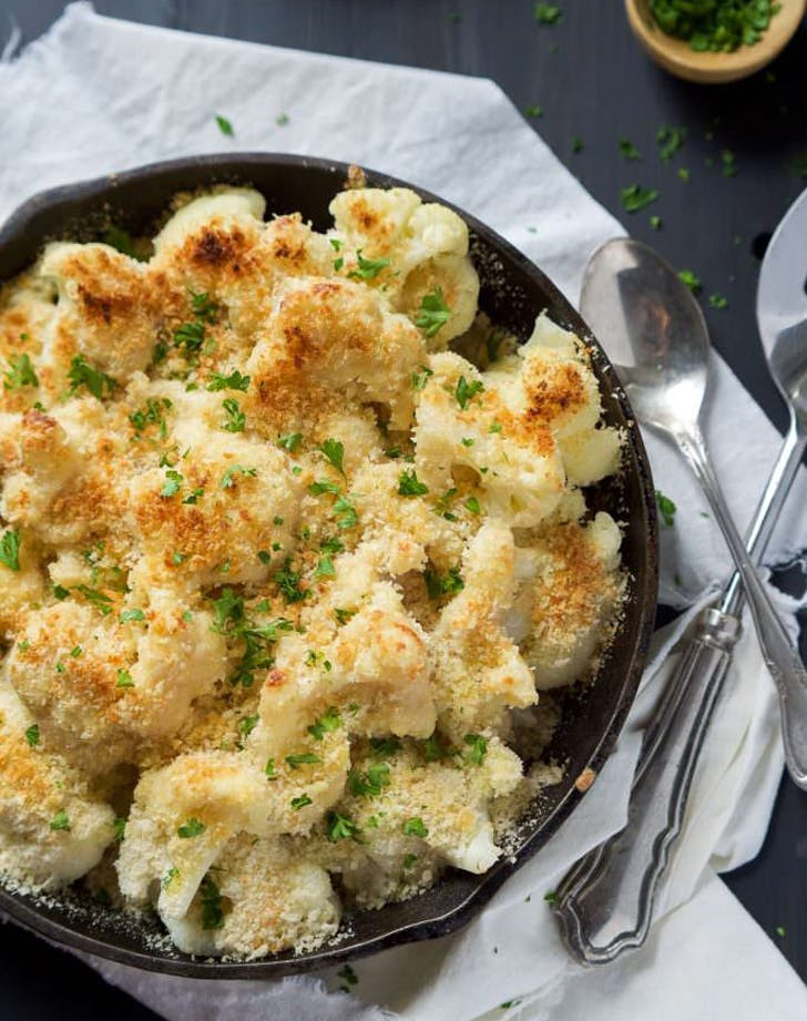 holiday sides cauliflowergratin