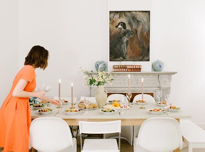 hostess setting table