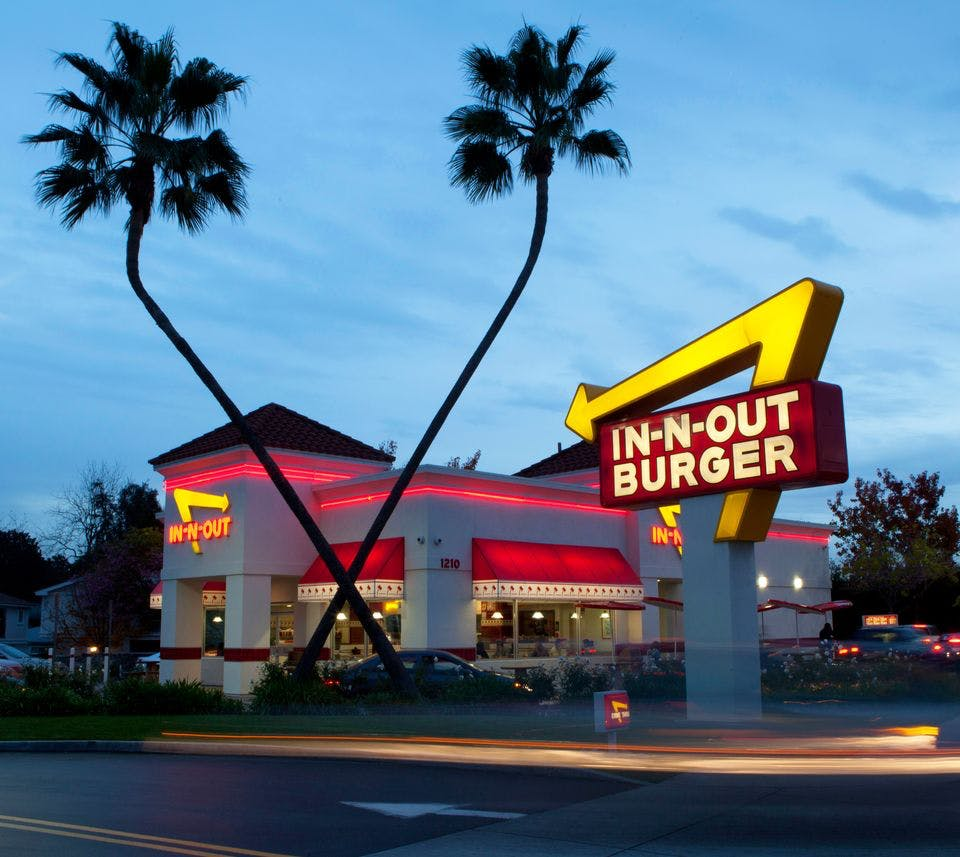in n out burger la visitor restaurants