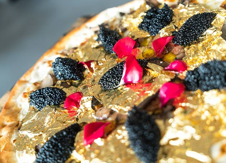 industry kitchen gold leaf pizza