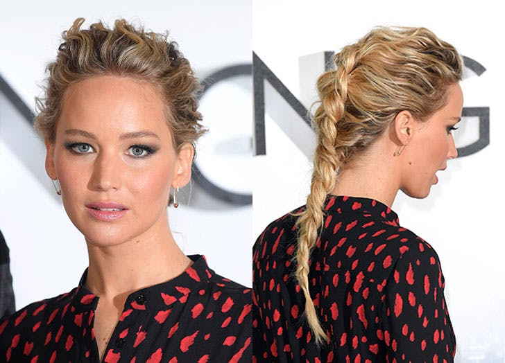 jennifer lawrence messy braid 728