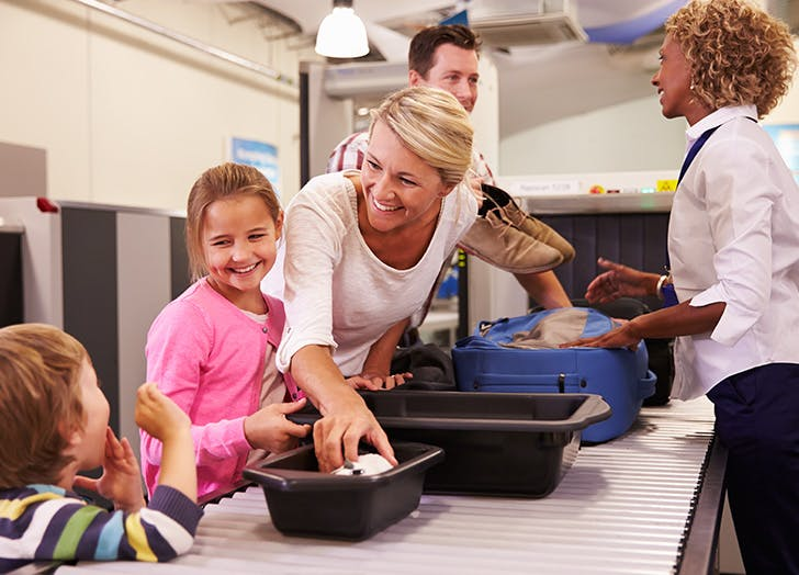 kid travel airport security