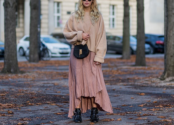 layer dress maxi pullover