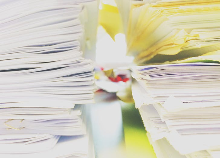 money resolutions paper stacks