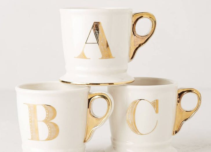 nate berkus coffee cups gold