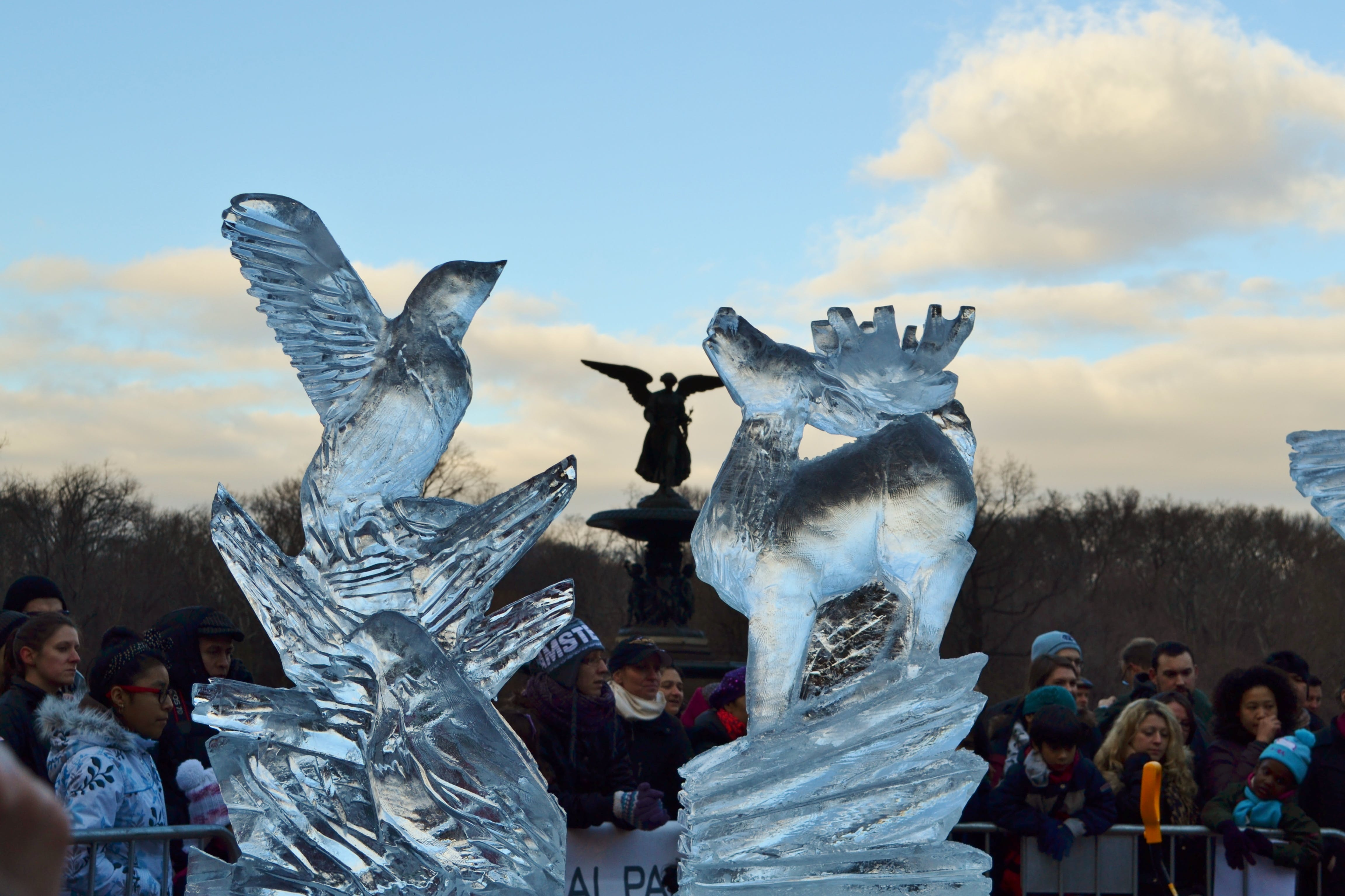 ny winter activites central park ice scultures