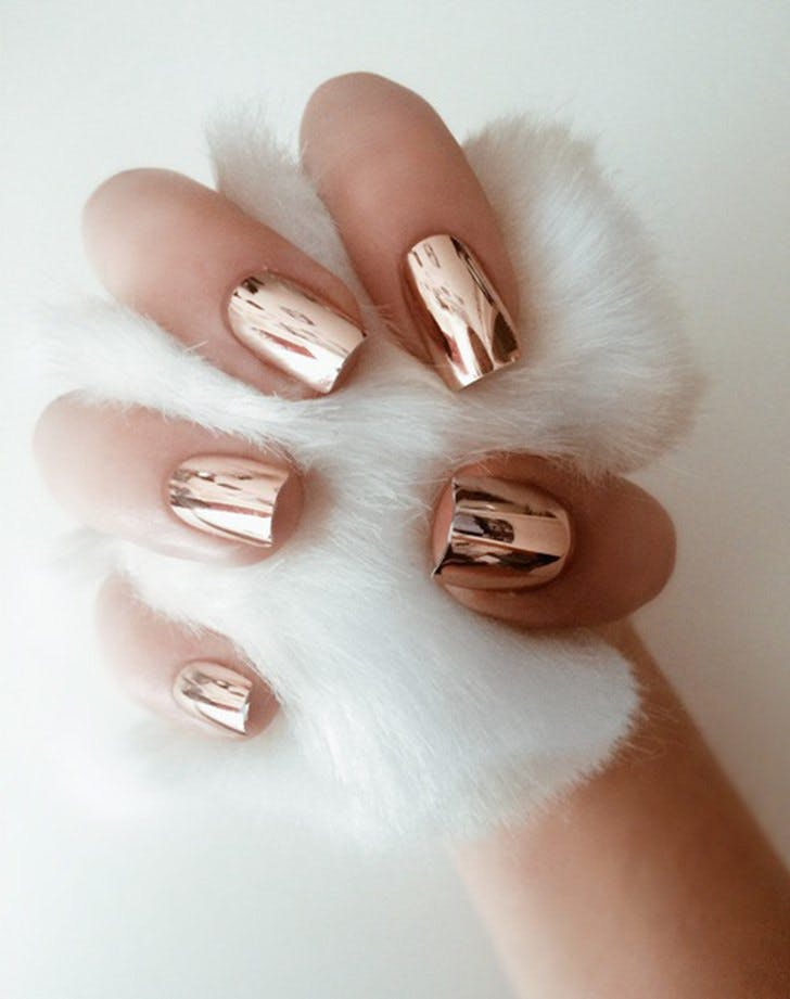 pinterest trends 2017 chrome nails