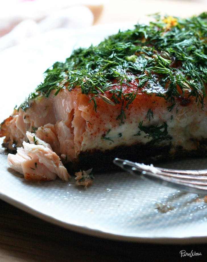 slow cooked salmon vertical