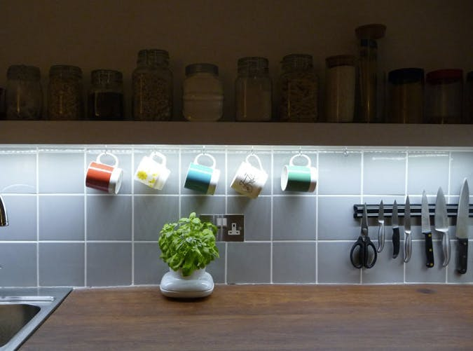 small kitchen strip lighting