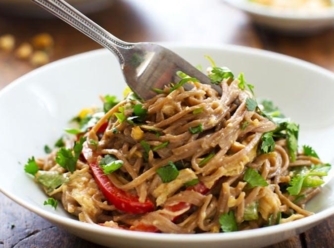 soba chicken noodle