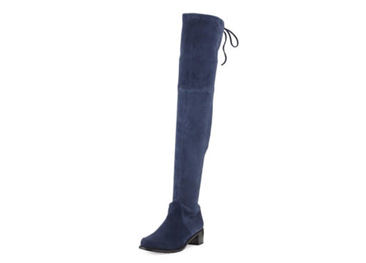 statement boots OTK blue suede