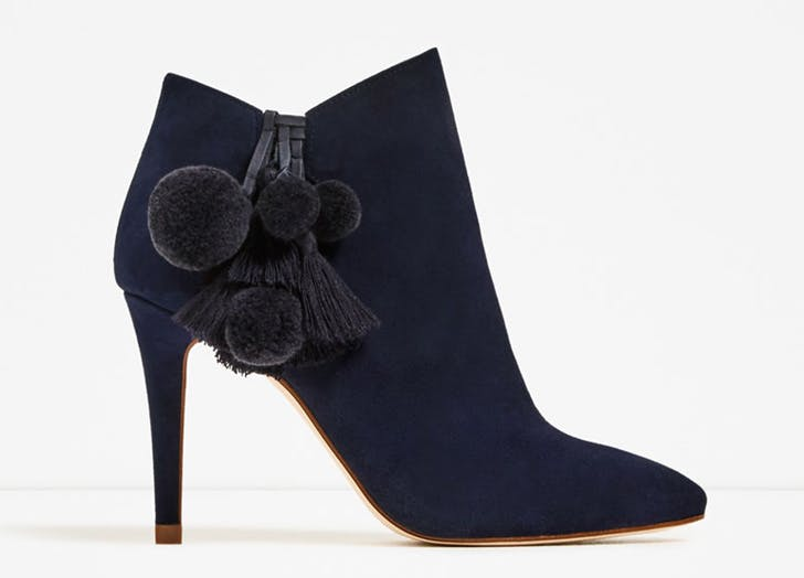 statement boots blue tassel