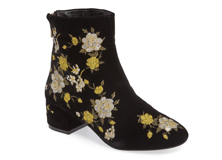 statement boots floral