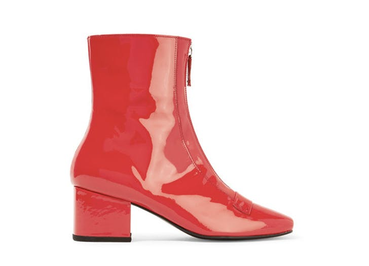 statement boots red patent