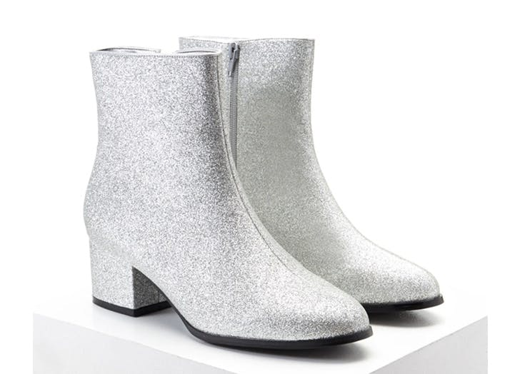 statement boots silver