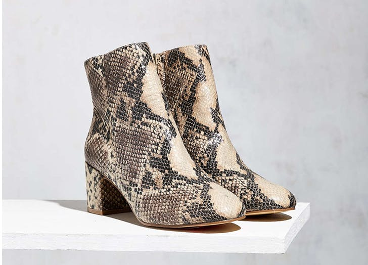statement boots snakeskin