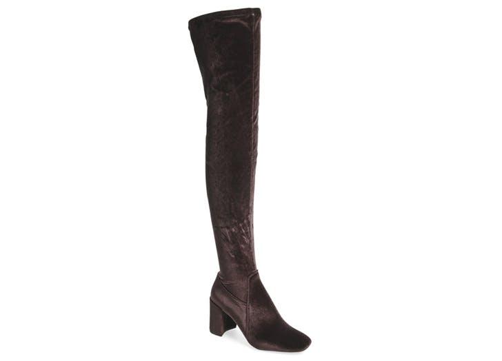 statement boots velvet