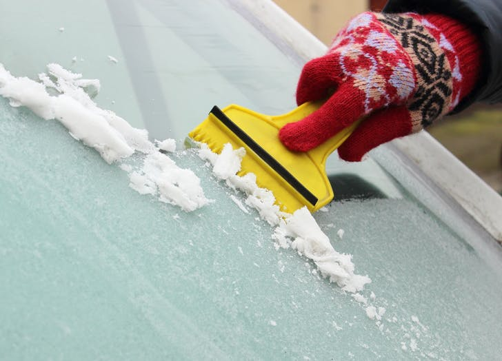 winter car ice scraper