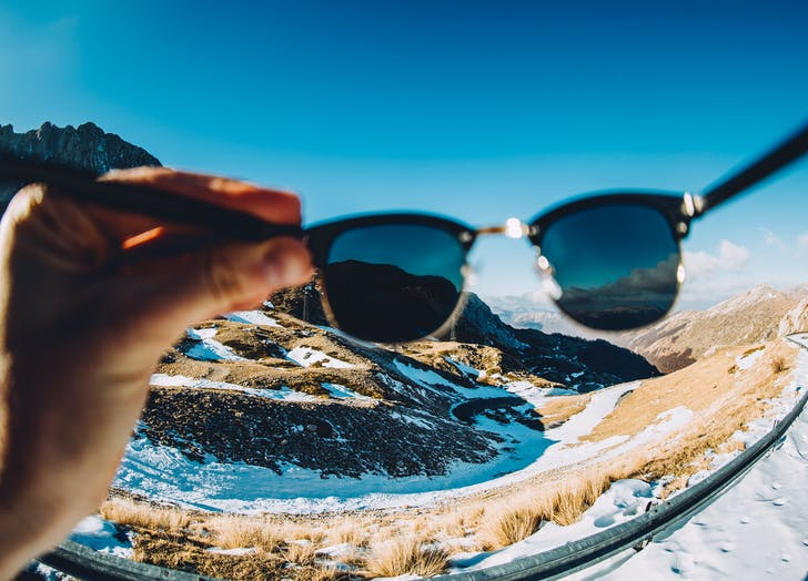 winter car sunglasses