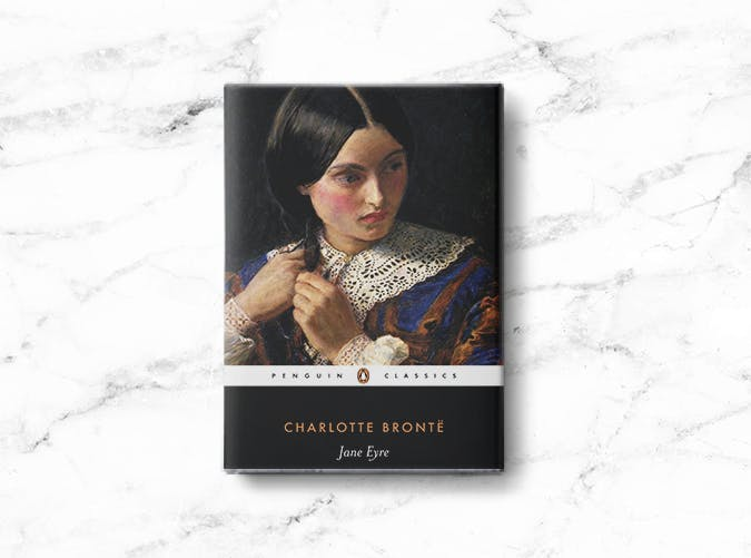 woman books charlotte bronte