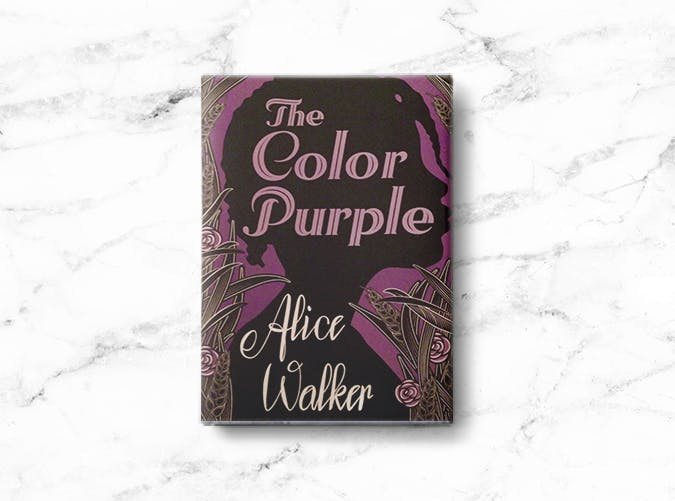 woman books color purple