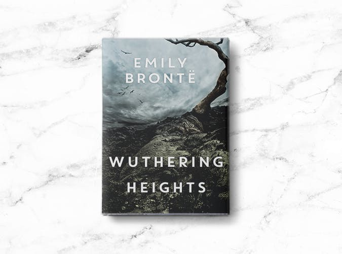 woman books wuthering heights
