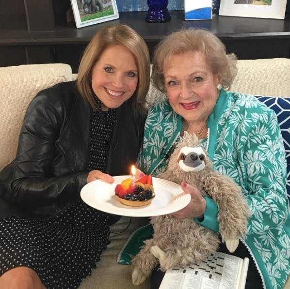2017 celebrating her birthday with Katie Couric  age 95