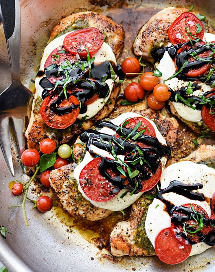 30min dinner capresechicken