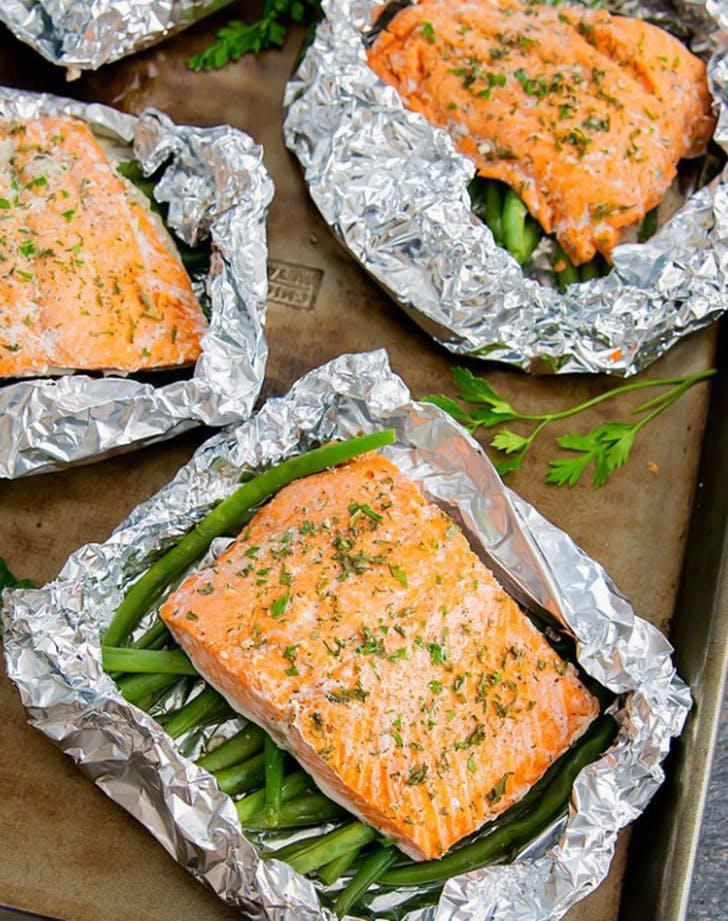 30min dinner salmonpacket