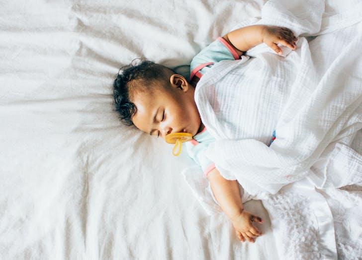 Second child pacifier asleep