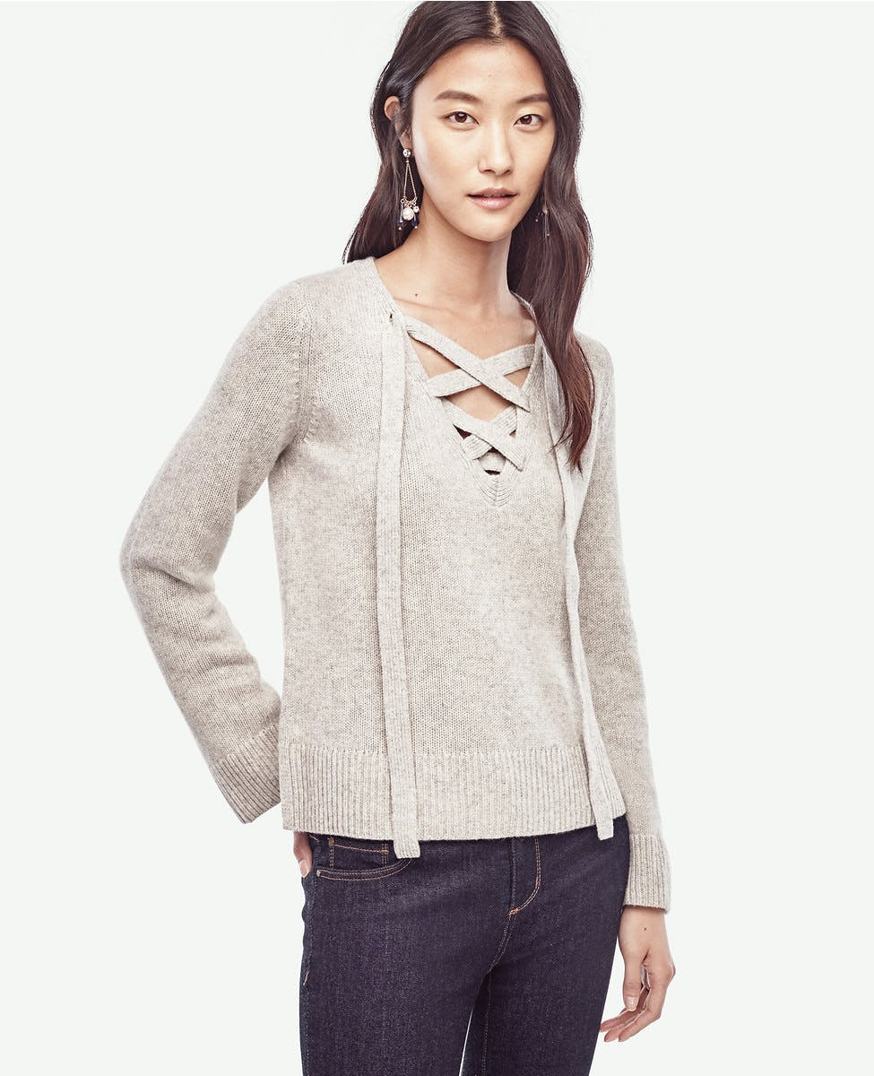ann taylor cashemere sweater under  100 chicago