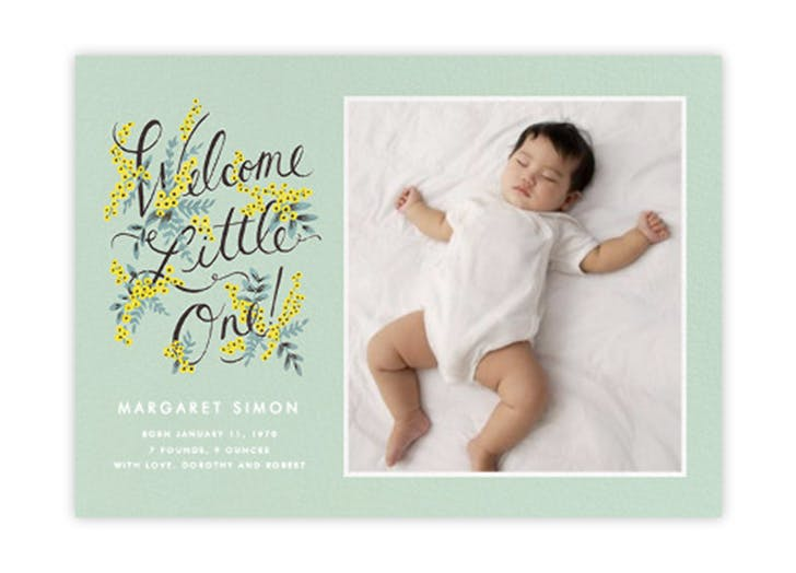 baby traditions card