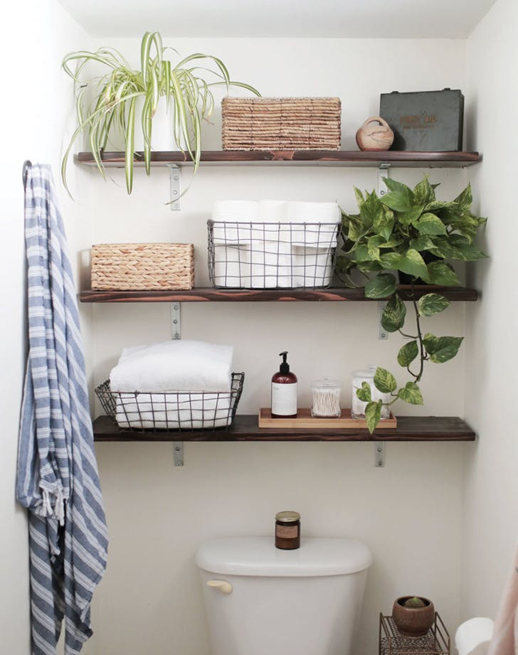 bathroom refresh shelves
