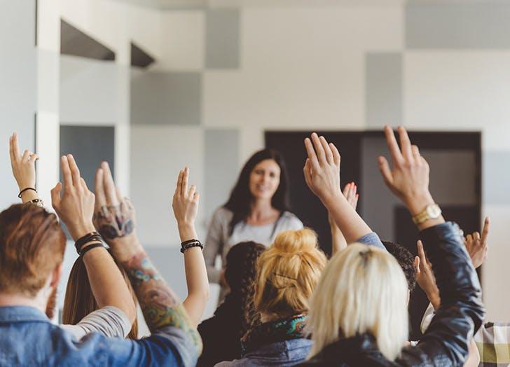 confidence classroom hands raised