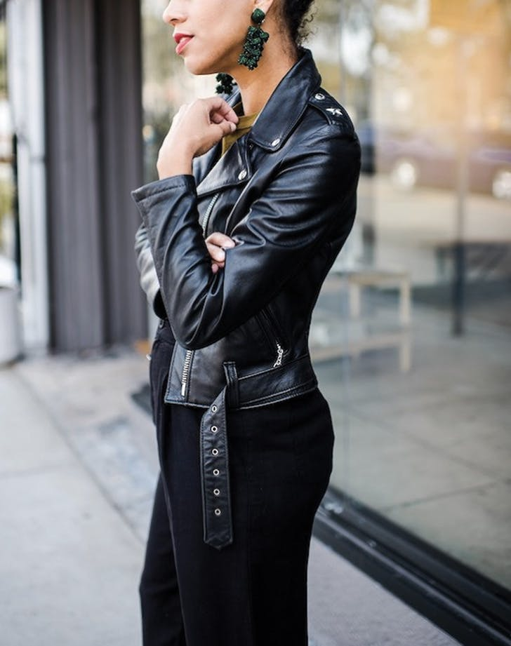 date night leather jacket