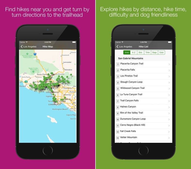 day hikes la 2017 apps