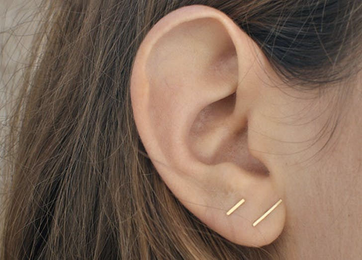earring stacking dashes