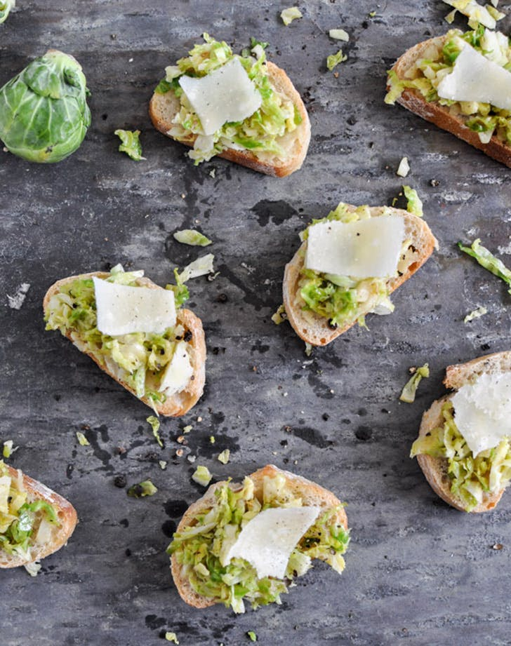 game day snacks crostini