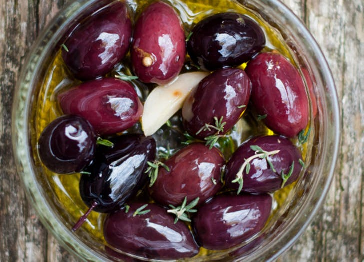 game day snacks olives