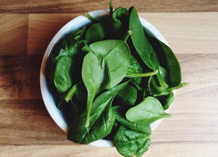 good mood food spinach