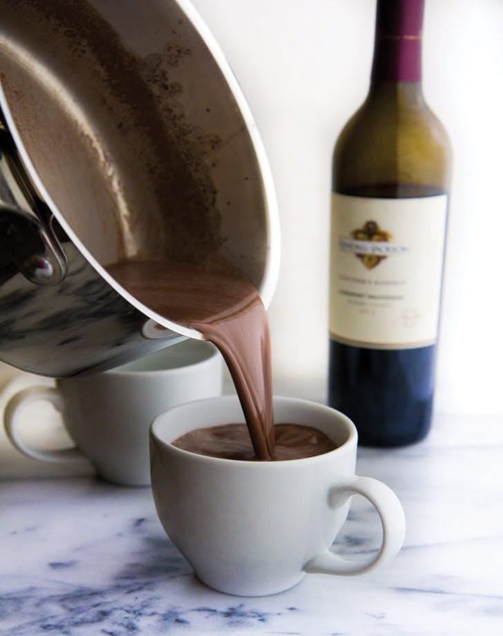 hot chocolate wine