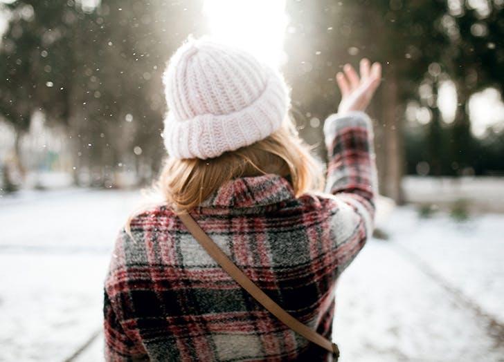hygge snowing