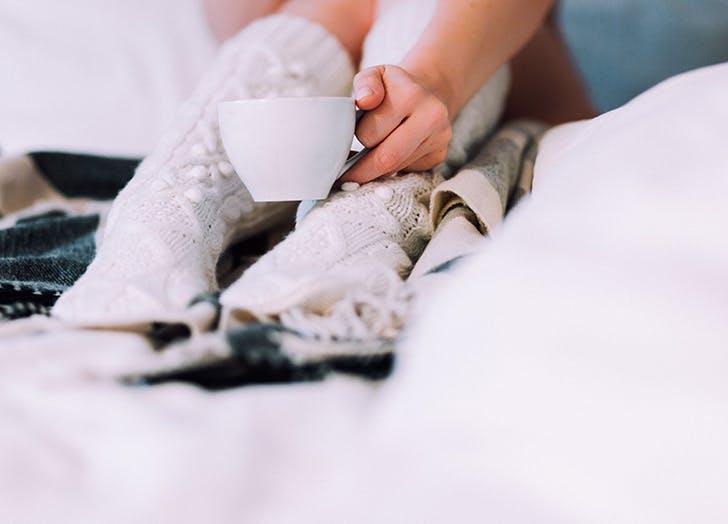 hygge socks coffee