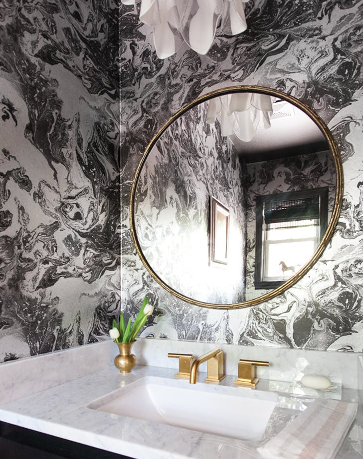 marble wallpaper home decor trend - purewow