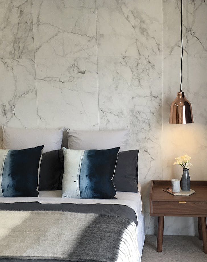 marble wallpaper bedroom